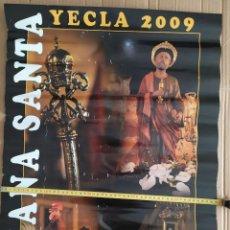 Carteles de Semana Santa: 2009 CARTEL PUBLICITARIO GRAN FORMATO SEMANA SANTA YECLA LLAVES SAN PEDRO COFRADIA PASIONARIAS. Lote 191380137