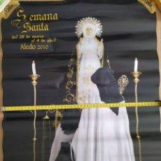 Carteles de Semana Santa: 2010 CARTEL PUBLICITARIO GRAN FORMATO SEMANA SANTA HDAD VIRGEN DE LOS DOLORES DE ALEDO MURCIA BLANCO. Lote 191382768