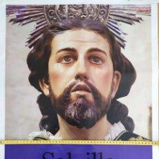 Carteles de Semana Santa: CARTEL GRAN FORMATO SEMANA SANTA SALZILLO ESCULTOR ENTRE DOS REINOS IGLESIA NUESTRA SEÑORA DL CARMEN. Lote 191395750