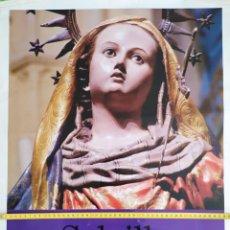 Carteles de Semana Santa: CARTEL GRAN FORMATO SEMANA SANTA SALZILLO ESCULTOR ENTRE DOS REINOS IGLESIA NUESTRA SEÑORA DL CARMEN. Lote 191395976