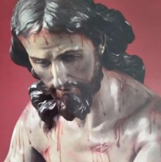Carteles de Semana Santa: CARTEL GRAN FORMATO SEMANA SANTA SALZILLO ESCULTOR JESUCRISTO. Lote 191397612