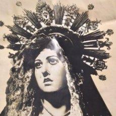 Carteles de Semana Santa: CARTEN ANUNCIACION FESTIVIDAD DE NUESTRA SEÑORA VIRGEN DOLORES PATRONA AGUILAS 2007 BLANCO NEGRO. Lote 192045987