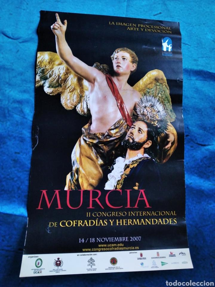 LÁMINA PÓSTER SEMANA SANTA MURCIA CONGRESO COFRADÍAS 2007 / 39 X 23 CM (Coleccionismo - Carteles Gran Formato - Carteles Semana Santa)