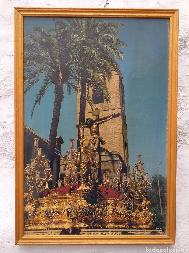 SEVILLA CARTEL HDAD. DE LA SED AÑOS 90 ENMARCADO (Coleccionismo - Carteles Gran Formato - Carteles Semana Santa)