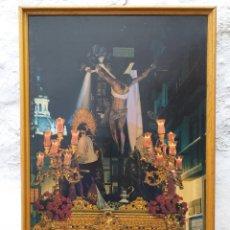 Carteles de Semana Santa: SEVILLA CÁRTEL SÁBADO SANTO 1992 ENMARCADO. Lote 194242718