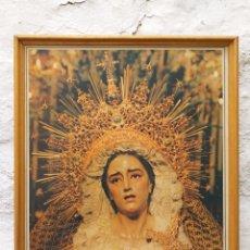 Carteles de Semana Santa: CARTEL IMAGEN DE DOLOROSA ENMARCADO AÑOS 90. Lote 194243107