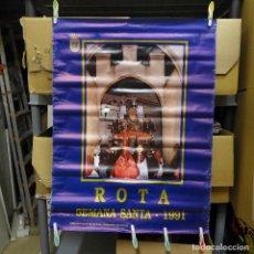 Carteles de Semana Santa: CARTEL DE LA SEMANA SANTA DE ROTA 1991. Lote 194284402