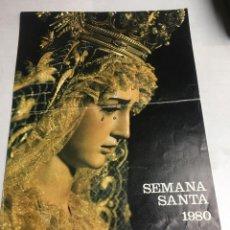 Carteles de Semana Santa: CARTEL SEMANA SANTA - AÑO 1980 - CAJA DE AHORROS - SEVILLA - 19.8X27.3CM. Lote 194653001