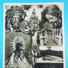 Carteles de Semana Santa: CARTEL SEMANA SANTA SEVILLA, FOTO SERRANO, HUECOGRABADO FOURNIER VITORIA 50 X 35 CM. Lote 194777655