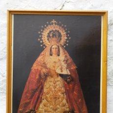Carteles de Semana Santa: CARTEL DE VIRGEN ENMARCADO PRINCIPIOS AÑO 90. Lote 194924516