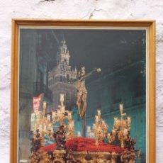 Carteles de Semana Santa: CARTEL DE CRUCIFICADO CON LA GIRALDA AL FONDO. Lote 194925011
