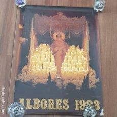 Carteles de Semana Santa: CARTEL SEMANA SANTA SEVILLA, TERTULIA COFRADE ALBORES, AÑO 1993, PEQUEÑO DEFECTO,LEER. Lote 195482207