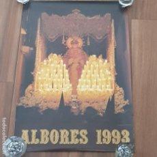 Carteles de Semana Santa: CARTEL SEMANA SANTA SEVILLA, TERTULIA COFRADE ALBORES, AÑO 1993, PEQUEÑO DEFECTO,LEER. Lote 195482410