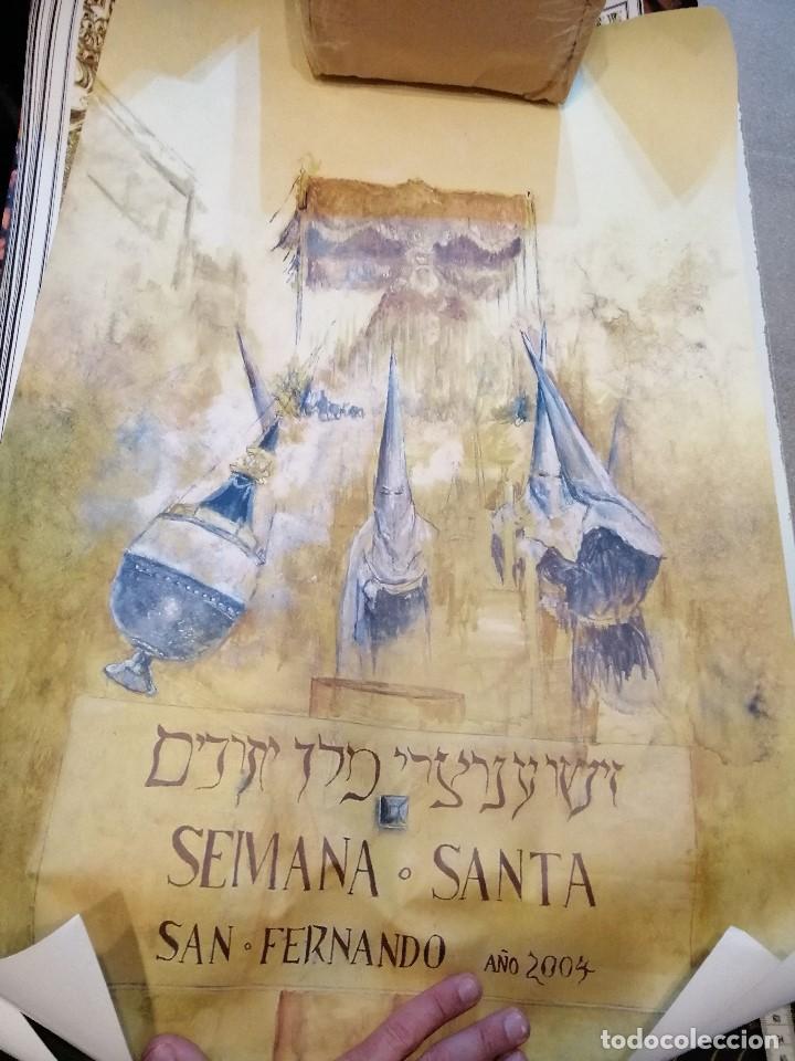 Carteles de Semana Santa: G-CADIZ1 LOTE DE 14 CARTELES POSTER DE SEMANA SANTA Y OTROS TAMAÑO GRANDE VENDO SUELTOS TAMBIEN - Foto 9 - 195573220