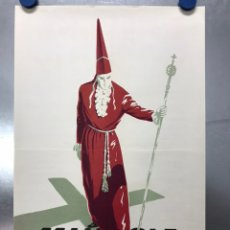 Carteles de Semana Santa: MURCIA - SEMANA SANTA - AÑO 1962 - LITOGRAFIA - ILUSTRADOR: A. LAORDEN. Lote 195954771