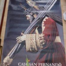 Affiches de Semaine Sainte: SEMANA SANTA SEVILLA, 1991, ESPECTACULAR CARTEL CAJA SAN FERNANDO, 67X96 CMS. Lote 197040668
