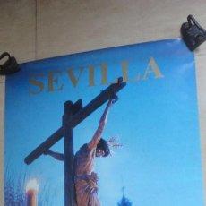 Carteles de Semana Santa: ANTIGUO CARTEL.SEMANA SANTA SEVILLA 1985. CRISTO CALVARIO.. Lote 200018311