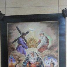 Carteles de Semana Santa: ANTIGUO CARTEL.CORONACION CANONICA.VIRGEN DE LAS ANGUSTIAS.LOS GITANOS.SEVILLA 1988. 85 X 56. Lote 200019275