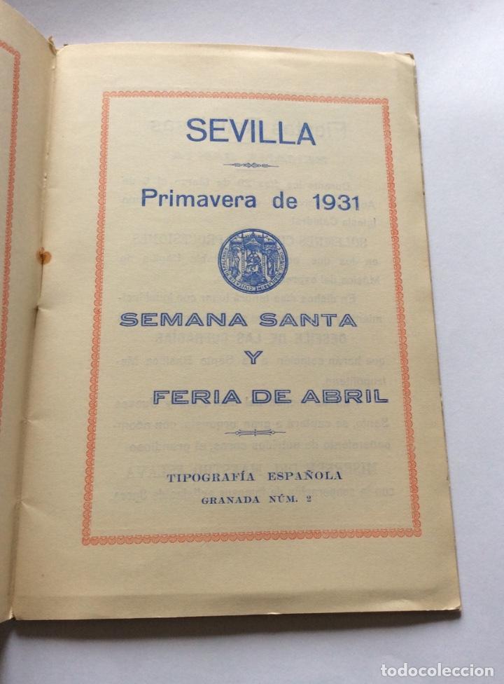 Carteles de Semana Santa: Primavera 1931. Semana Santa y Feria de Abril. Programa Oficial. - Foto 2 - 201303171