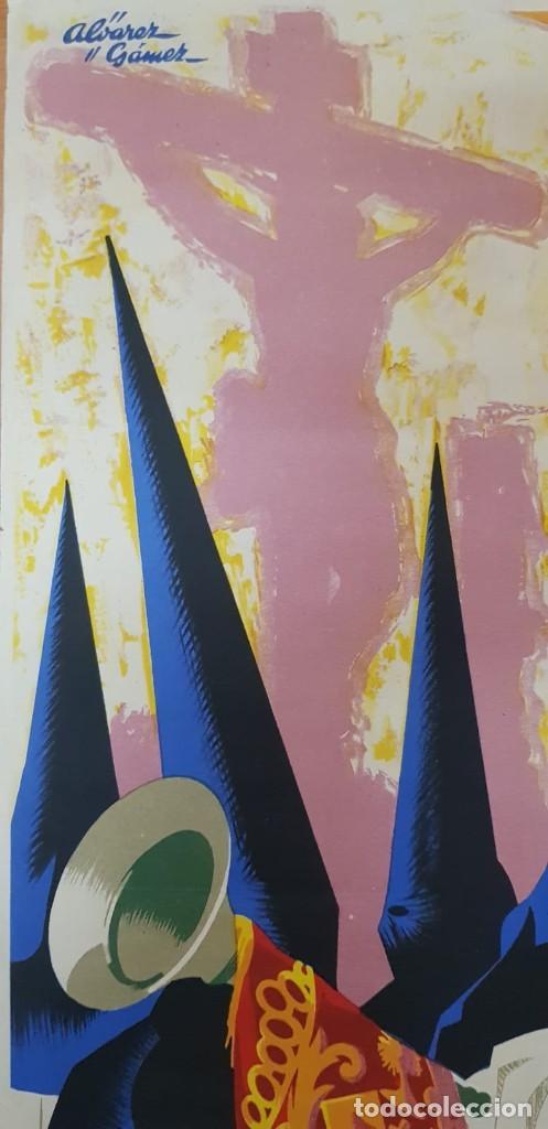 Carteles de Semana Santa: CARTEL SEMANA SANTA SEVILLA 1960. 50X31 CM. ORIGINAL. JOSÉ ÁLVAREZ GÁMEZ. PERFECTO ESTADO - Foto 2 - 202408403