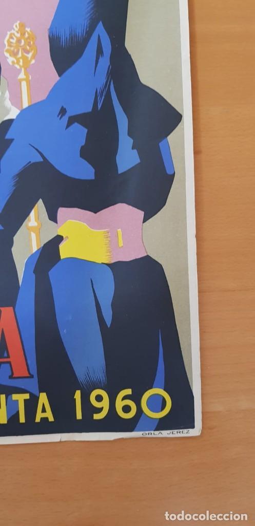 Carteles de Semana Santa: CARTEL SEMANA SANTA SEVILLA 1960. 50X31 CM. ORIGINAL. JOSÉ ÁLVAREZ GÁMEZ. PERFECTO ESTADO - Foto 3 - 202408403