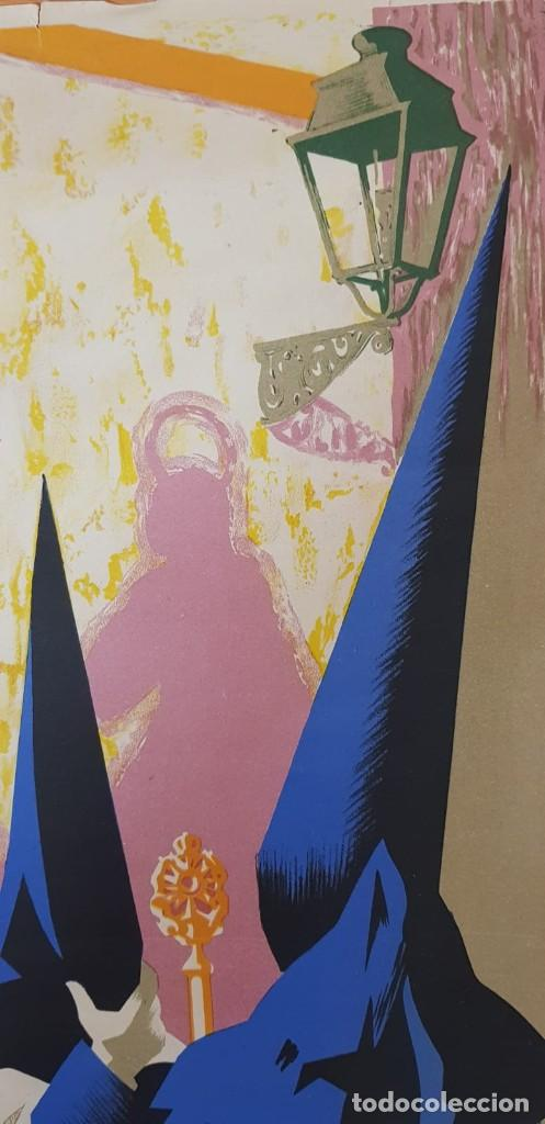 Carteles de Semana Santa: CARTEL SEMANA SANTA SEVILLA 1960. 50X31 CM. ORIGINAL. JOSÉ ÁLVAREZ GÁMEZ. PERFECTO ESTADO - Foto 5 - 202408403