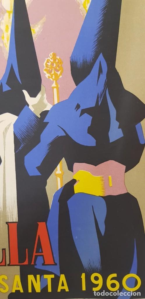 Carteles de Semana Santa: CARTEL SEMANA SANTA SEVILLA 1960. 50X31 CM. ORIGINAL. JOSÉ ÁLVAREZ GÁMEZ. PERFECTO ESTADO - Foto 9 - 202408403