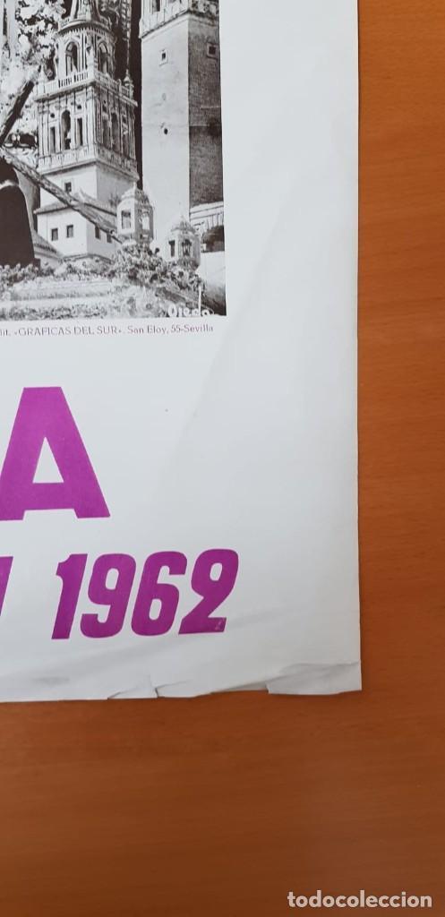Carteles de Semana Santa: CARTEL ORIGINAL SEMANA SANTA ÉCIJA 1962. GRAN FORMATO - Foto 4 - 202409556
