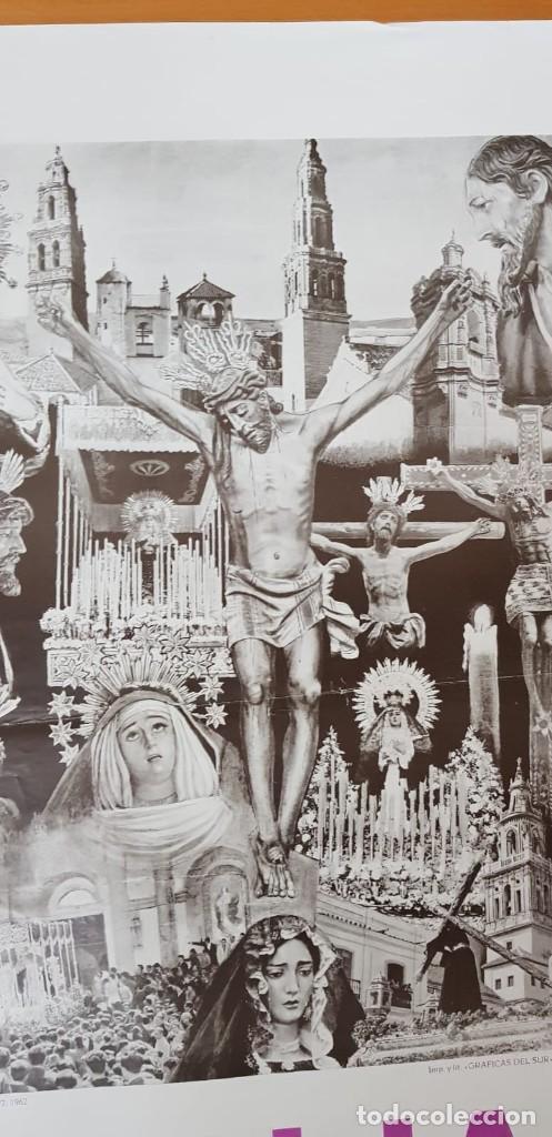Carteles de Semana Santa: CARTEL ORIGINAL SEMANA SANTA ÉCIJA 1962. GRAN FORMATO - Foto 6 - 202409556