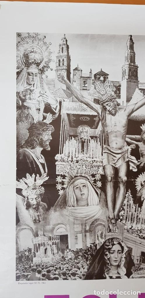 Carteles de Semana Santa: CARTEL ORIGINAL SEMANA SANTA ÉCIJA 1962. GRAN FORMATO - Foto 7 - 202409556