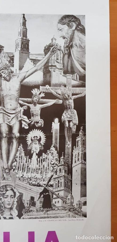 Carteles de Semana Santa: CARTEL ORIGINAL SEMANA SANTA ÉCIJA 1962. GRAN FORMATO - Foto 8 - 202409556