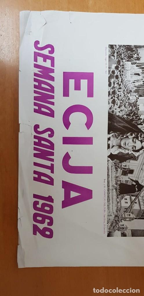 Carteles de Semana Santa: CARTEL ORIGINAL SEMANA SANTA ÉCIJA 1962. GRAN FORMATO - Foto 9 - 202409556