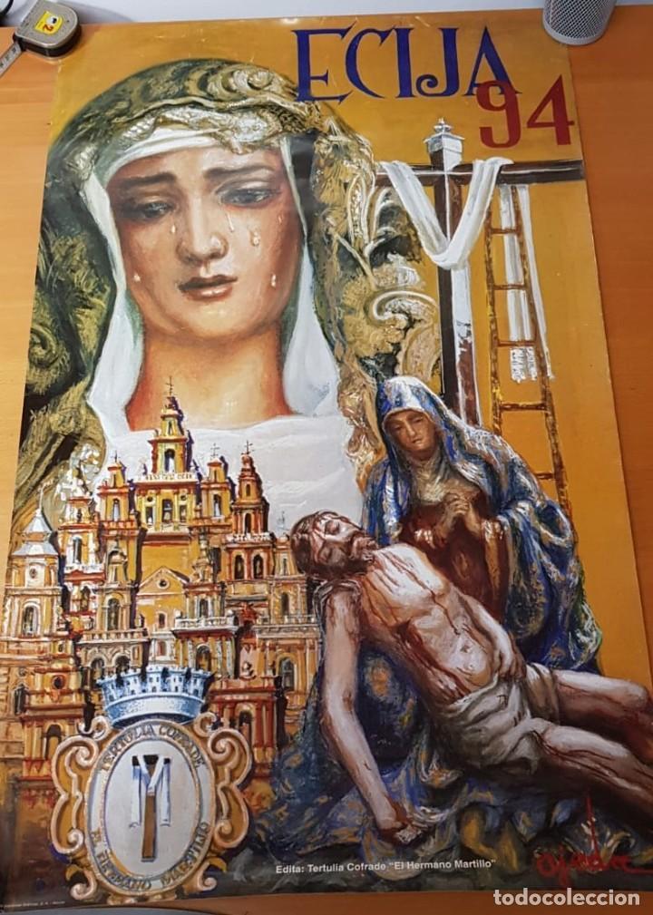 CARTEL SEMANA SANTA ÉCIJA 1994. ORIGINAL. BUEN ESTADO. (Coleccionismo - Carteles Gran Formato - Carteles Semana Santa)