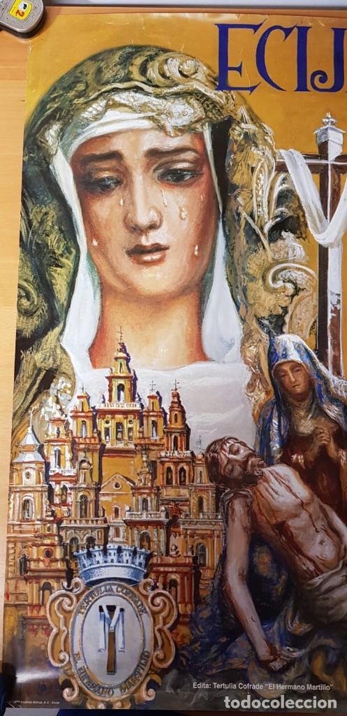Carteles de Semana Santa: CARTEL SEMANA SANTA ÉCIJA 1994. ORIGINAL. BUEN ESTADO. - Foto 2 - 202412177