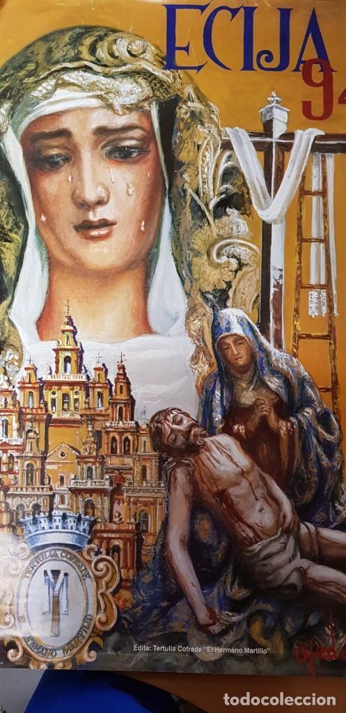 Carteles de Semana Santa: CARTEL SEMANA SANTA ÉCIJA 1994. ORIGINAL. BUEN ESTADO. - Foto 7 - 202412177