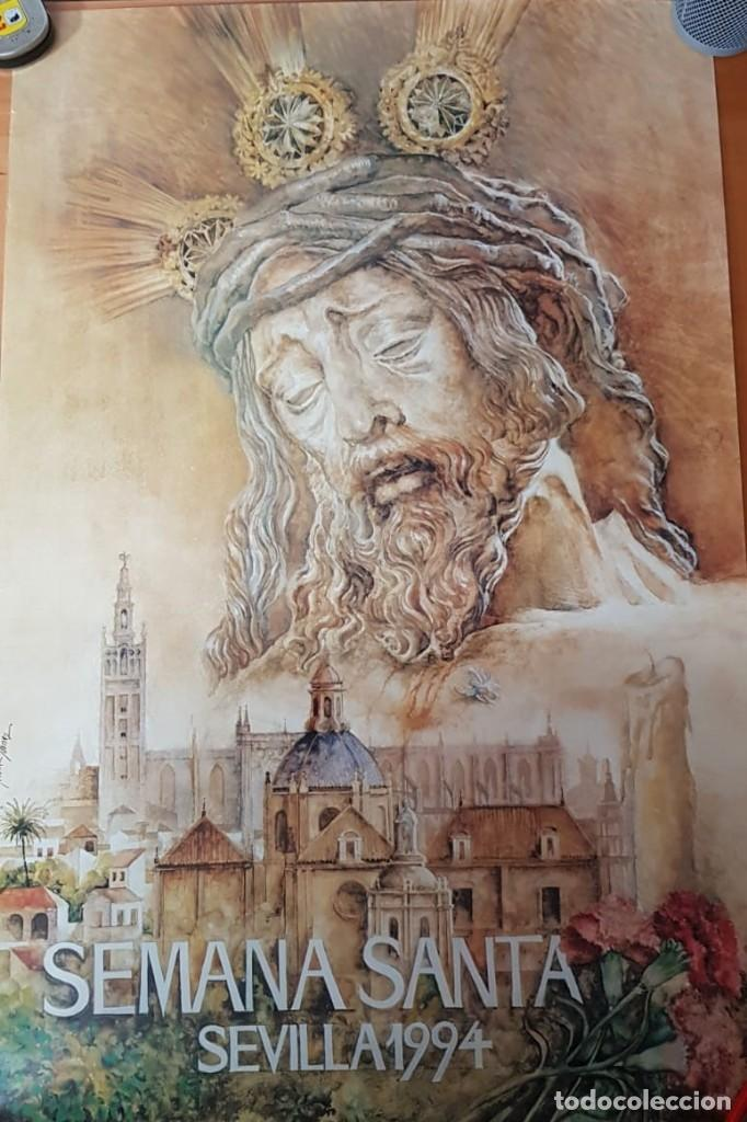CARTEL SEMANA SANTA SEVILLA 1994. ORIGINAL. (Coleccionismo - Carteles Gran Formato - Carteles Semana Santa)