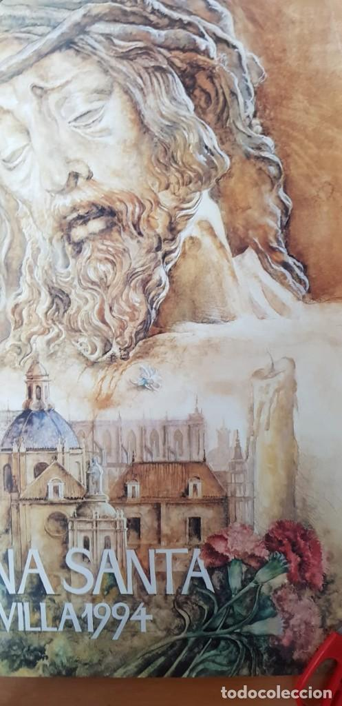 Carteles de Semana Santa: CARTEL SEMANA SANTA SEVILLA 1994. ORIGINAL. - Foto 2 - 202413338