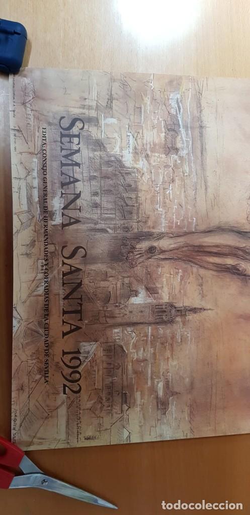 Carteles de Semana Santa: CARTEL SEMANA SANTA SEVILLA 1992. ORIGINAL. - Foto 3 - 202413546