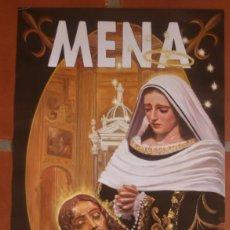 Carteles de Semana Santa: CARTEL POSTER CENTENARIO FUNDACIONAL COFRADIA HERMANDAD CRISTO MENA NUESTRA SEÑORA SOLEDAD MALAGA. Lote 202573372
