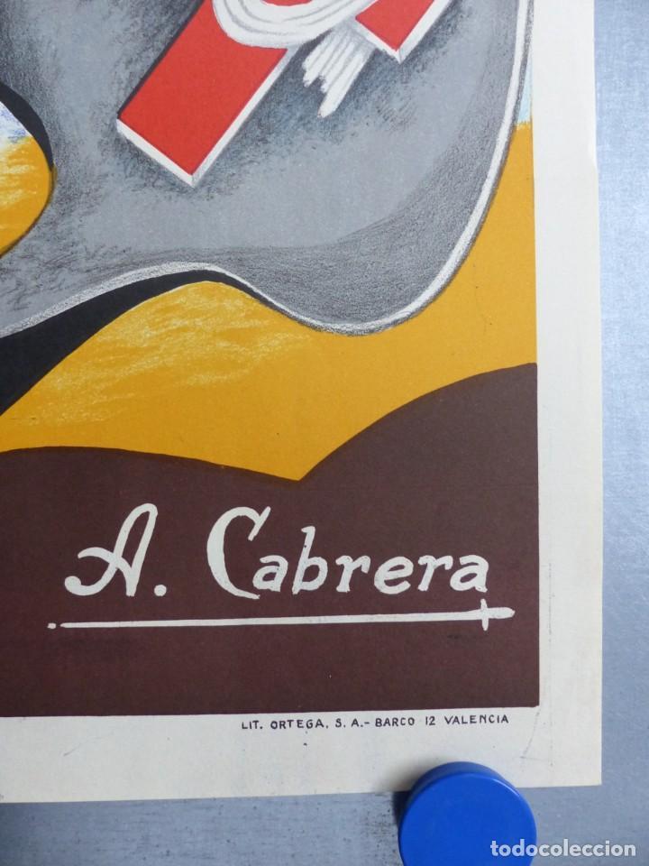 Carteles de Semana Santa: CARTEL VALENCIA, SEMANA SANTA MARINERA - AÑO 1962 - LITOGRAFIA, A. CABRERA - Foto 3 - 204078816
