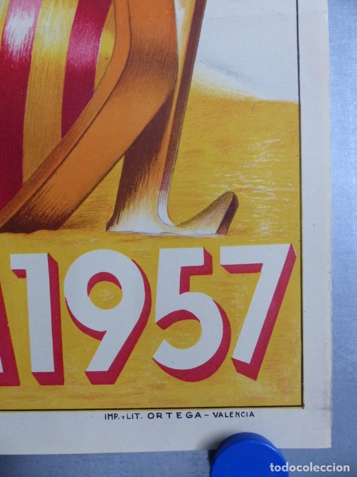 Carteles de Semana Santa: CARTEL VALENCIA, SEMANA SANTA MARINERA - AÑO 1957 - LITOGRAFIA, A. CABRERA - Foto 2 - 204079533