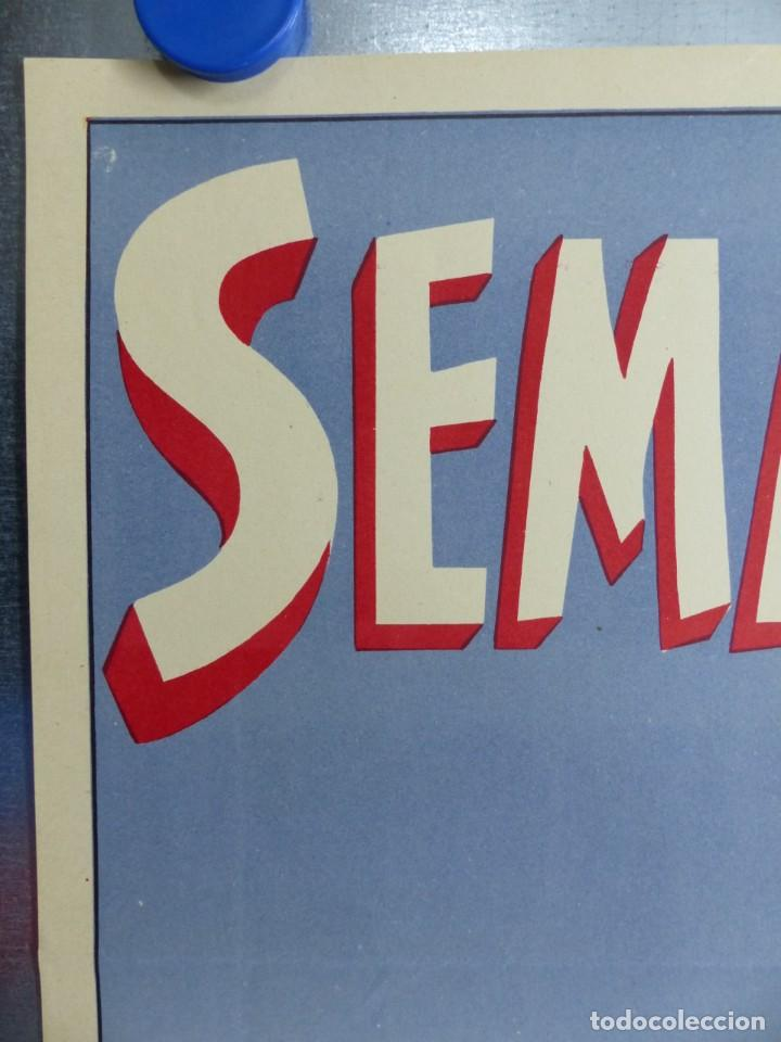 Carteles de Semana Santa: CARTEL VALENCIA, SEMANA SANTA MARINERA - AÑO 1957 - LITOGRAFIA, A. CABRERA - Foto 4 - 204079533
