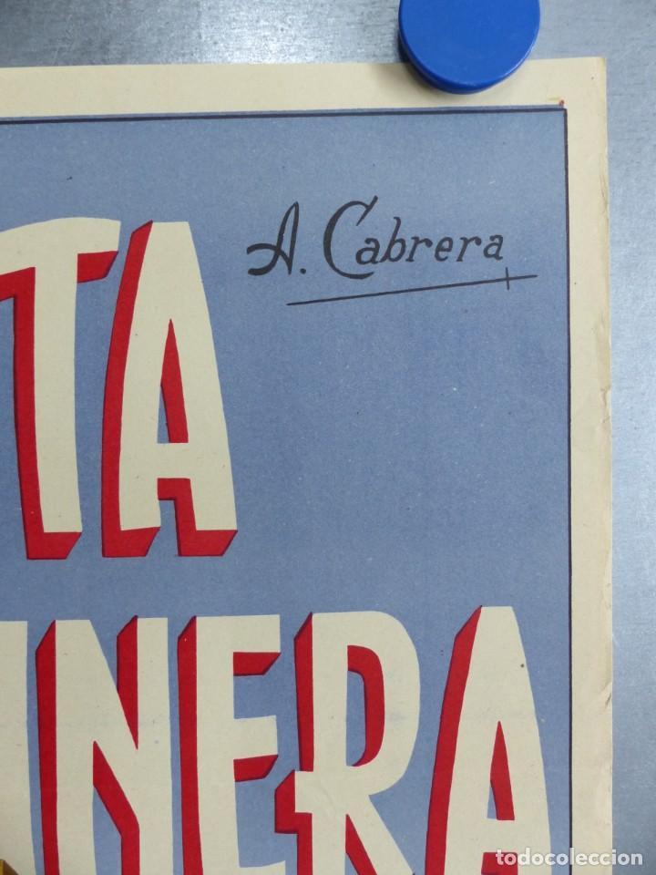 Carteles de Semana Santa: CARTEL VALENCIA, SEMANA SANTA MARINERA - AÑO 1957 - LITOGRAFIA, A. CABRERA - Foto 5 - 204079533
