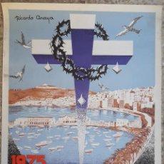 Carteles de Semana Santa: CARTEL CEUTA SEMANA SANTA 1975 LITOGRAFIA RICARDO ANAYA ORIGINAL , C8. Lote 204505957