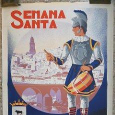 Carteles de Semana Santa: CARTEL MONTORO CORDOBA SEMANA SANTA 1962 LITOGRAFIA RICARDO ANAYA ORIGINAL , C8. Lote 204506860