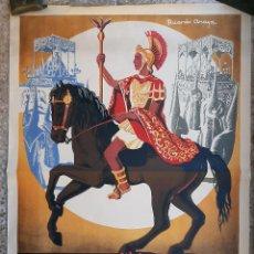 Carteles de Semana Santa: CARTEL LORCA MURCIA SEMANA SANTA 1958 LITOGRAFIA RICARDO ANAYA GRANDE ORIGINAL , C8. Lote 204507145