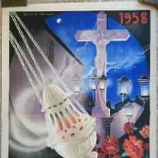 Carteles de Semana Santa: CARTEL CORDOBA SEMANA SANTA 1963 LITOGRAFIA RICARDO ANAYA GRANDE ORIGINAL , C8. Lote 204507418