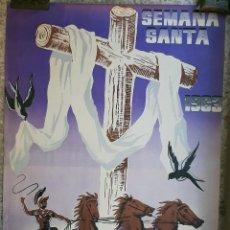 Carteles de Semana Santa: CARTEL LORCA MURCIA SEMANA SANTA 1963 LITOGRAFIA RICARDO ANAYA GRANDE ORIGINAL , C8. Lote 204508530