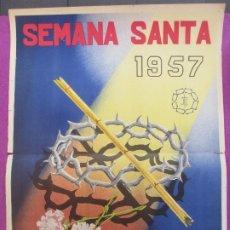 Carteles de Semana Santa: CARTEL SEMANA SANTA ALBACETE 1957 PICAZO CSS21. Lote 207173575