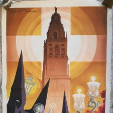Carteles de Semana Santa: CARTEL CORDOBA SEMANA SANTA 1955 GRANDE RICARDO ANAYA LITOGRAFIA ORIGINAL. Lote 207254236
